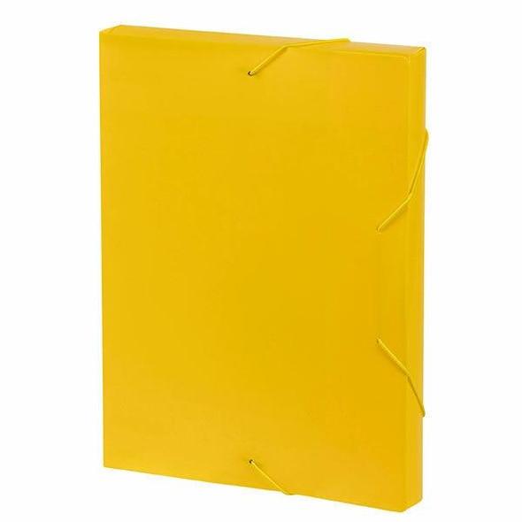 Marbig Document Box A4 Yellow X CARTON of 10 2019905
