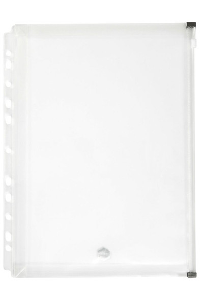 Marbig Binder Wallet A4 Right Side Zip Open Clear X CARTON of 12 2025712