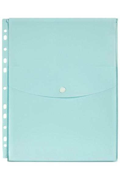 Marbig Binder Wallet A4 Top Open Pastel Blue X CARTON of 12 2025891