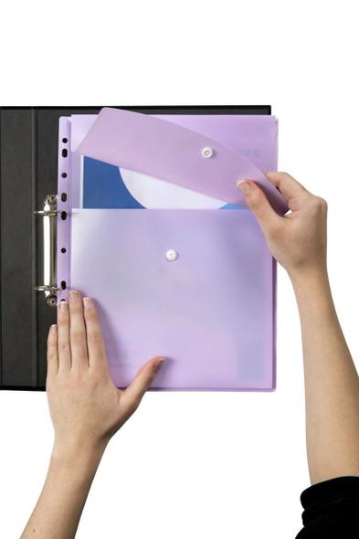 Marbig Binder Wallet A4 Top Open Pastel Purple X CARTON of 12 2025894