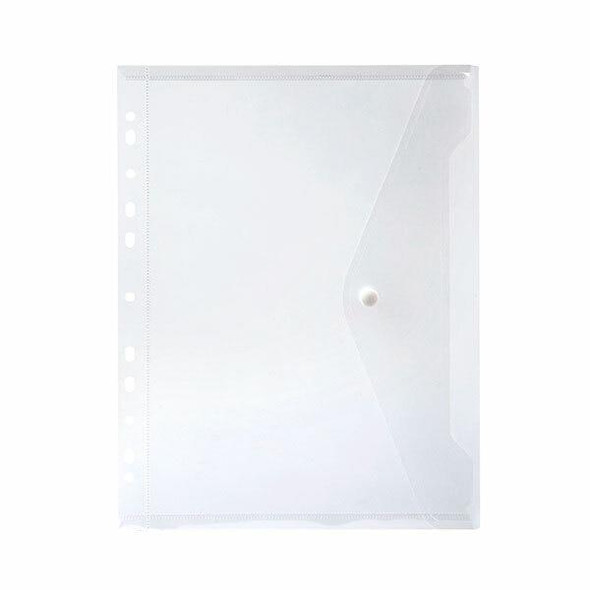 Marbig Binder Wallet A4 Right Side Open Clear X CARTON of 12 2025912