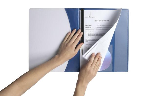 Marbig Flat Files A4 Premier Blue X CARTON of 25 2050001