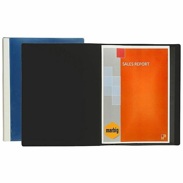 Marbig Clearview Non-Refillable Display Book 24 Pocket Black X CARTON of 12 2055002