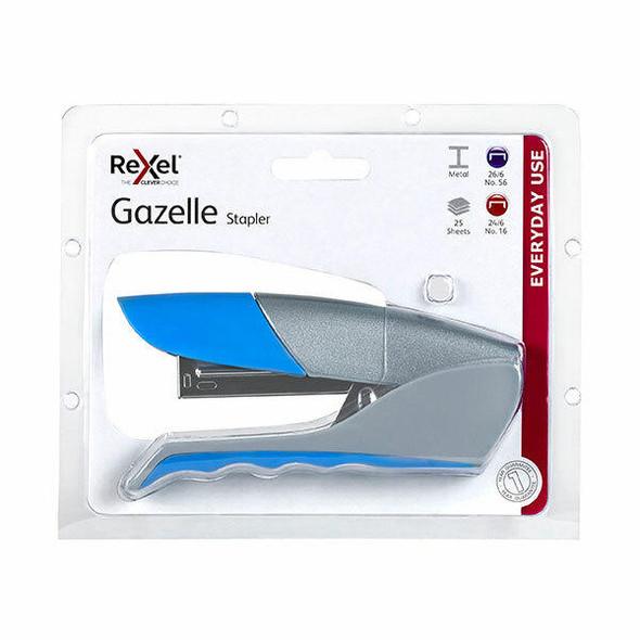 Rexel Stapler H/Strip Gazelle Blue 210816