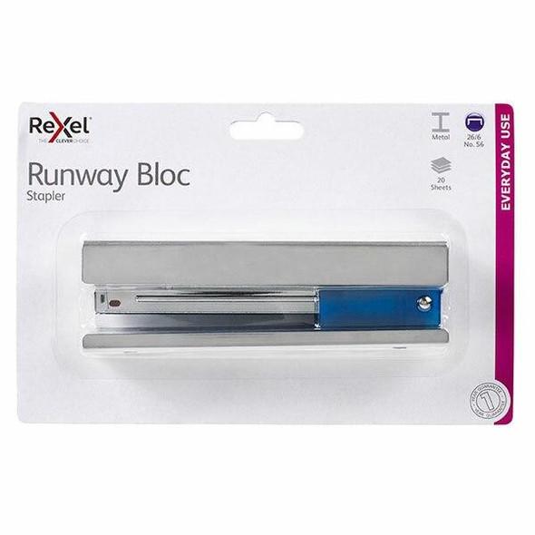 Rexel Stapler Full Strip Runway Chrome 210826