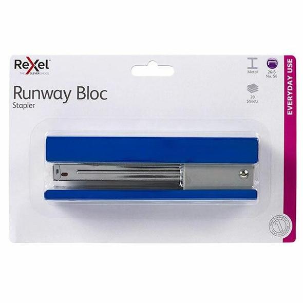 Rexel Stapler Full Strip Runway Blue 210827