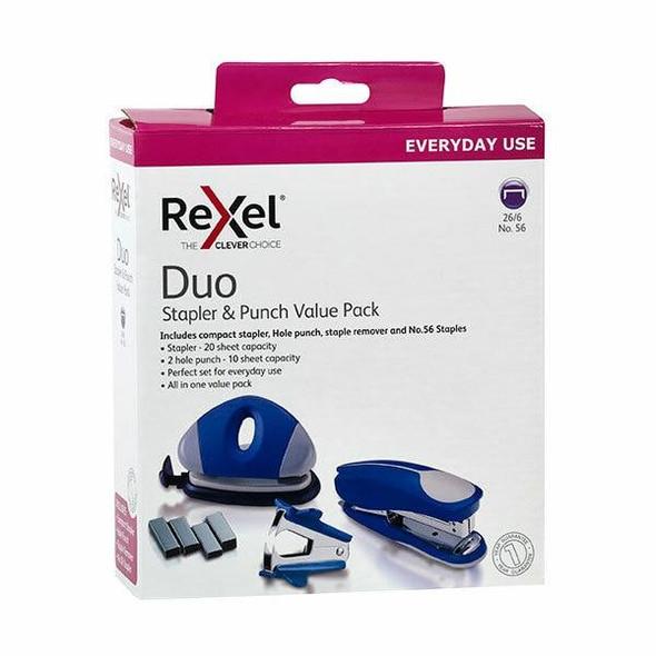 Rexel Stapler Value Pack W/Punch Blue 210832