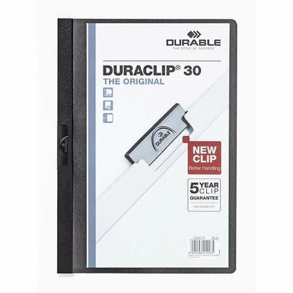 DURABLE Duraclip Document File A4 30 Sheet Black 220001