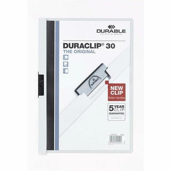 DURABLE Duraclip Document File A4 30 Sheet White 220002