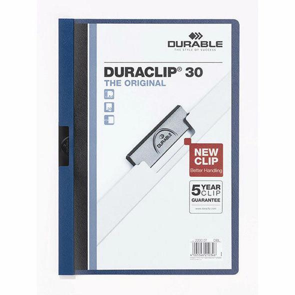 DURABLE Duraclip Document File A4 30 Sheet Dark Blue 220007