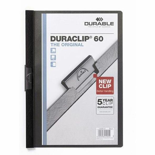 DURABLE Duraclip Document File A4 60 Sheet Black 220901