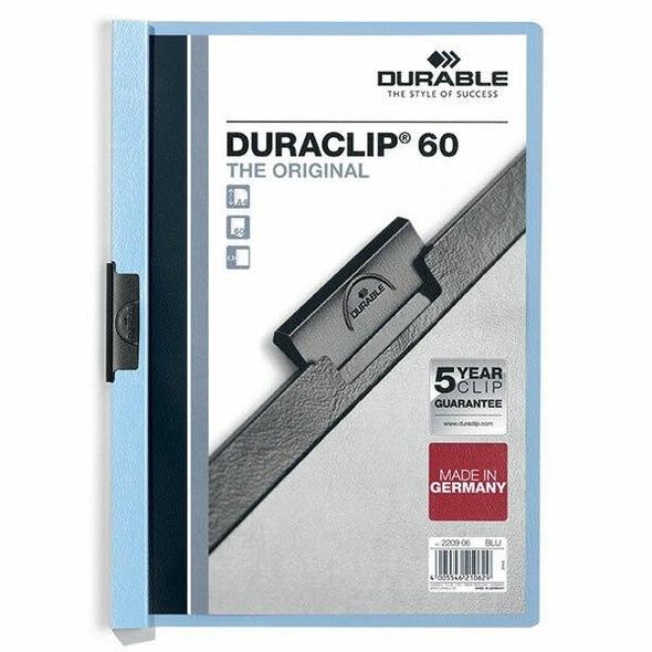 DURABLE Duraclip Document File A4 60 Sheet Blue 220906