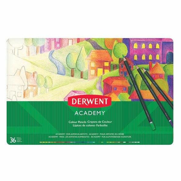 DERWENT Academy Coloured Pencil Tin 36 X CARTON of 2 2300225
