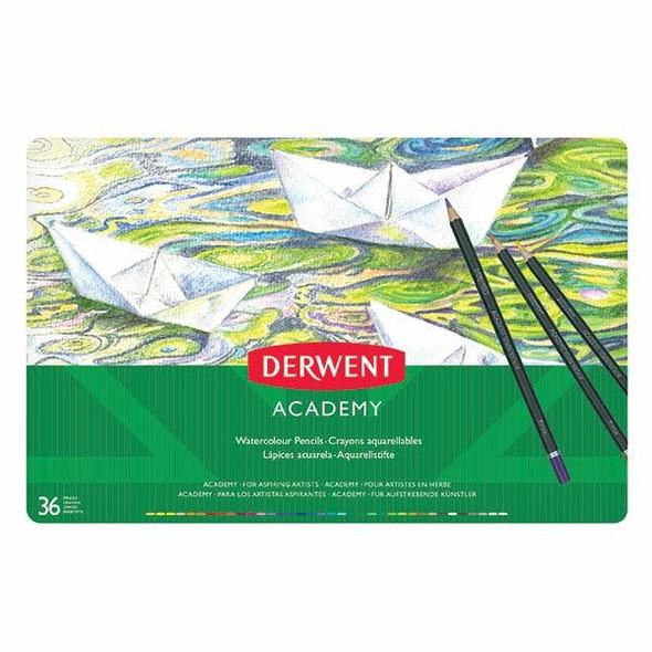 DERWENT Academy Watercolour Pencil Tin 36 X CARTON of 2 2300226