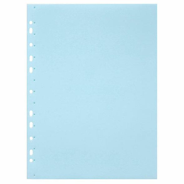 Marbig Soft Touch Binder Display Book A4 10 Pocket Pastel Blue X CARTON of 12 2300541