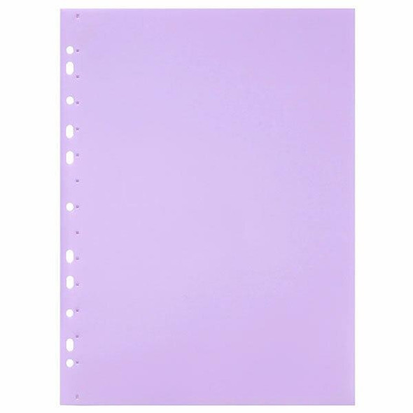 Marbig Soft Touch Binder Display Book A4 10 Pocket Pastel Purple X CARTON of 12 2300544