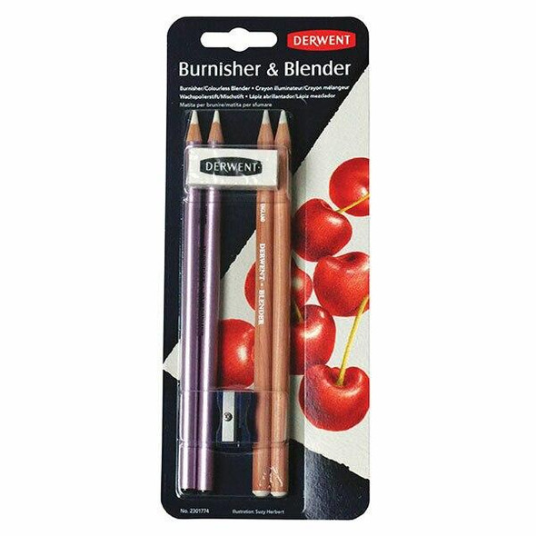 DERWENT Burnisher and Blender Pencil Blister 6 X CARTON of 6 2301774