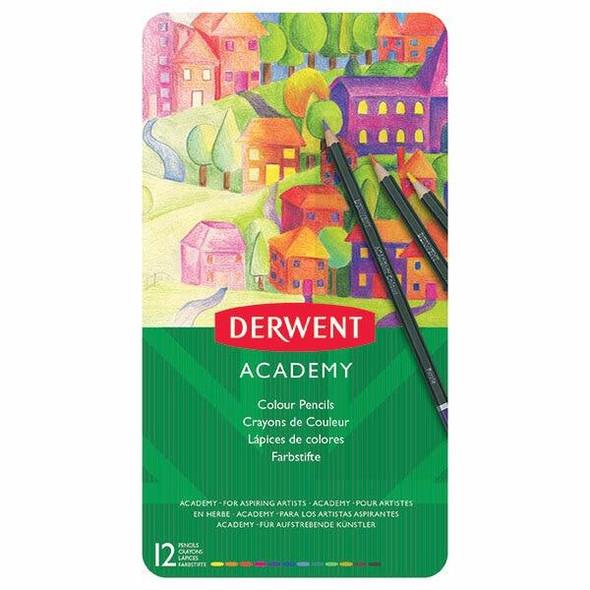DERWENT Academy Coloured Pencil Tin 12 X CARTON of 6 2301937