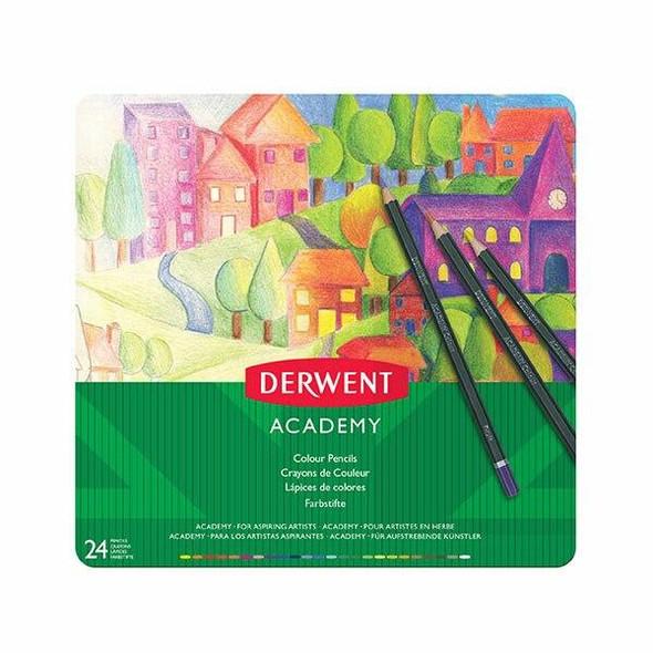 DERWENT Academy Coloured Pencil Tin 24 X CARTON of 3 2301938