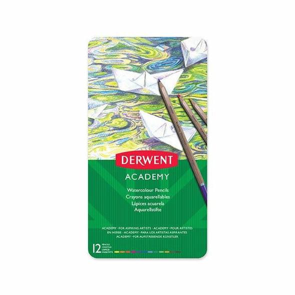 DERWENT Academy Watercolour Pencil Tin 12 X CARTON of 6 2301941