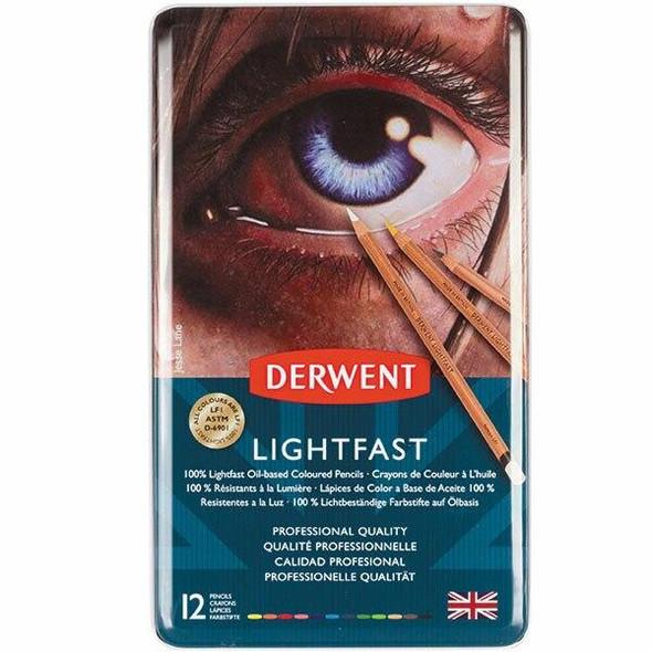 DERWENT LightfAssorted Pencils Tin 12 2302719