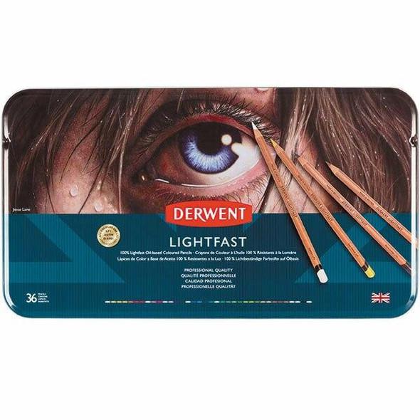 DERWENT LightfAssorted Pencils Tin 36 2302721