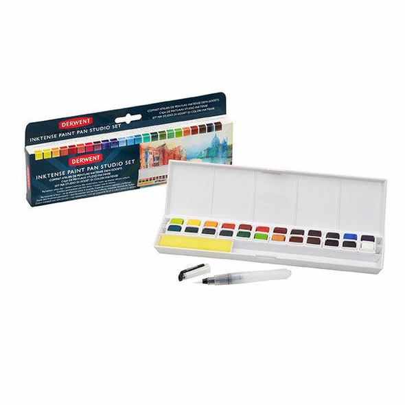 DERWENT Inktense Paint Pan Palette Studio Set 244 X CARTON of 6 2305545