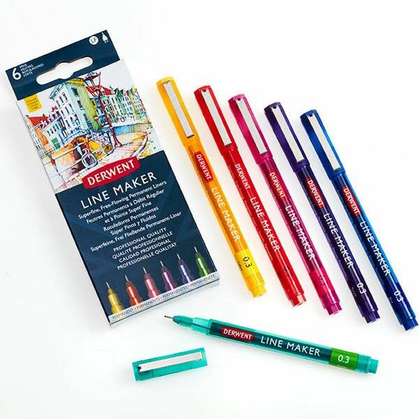 DERWENT Line Maker Drawing and Writing Colour X CARTON of 180 2305576