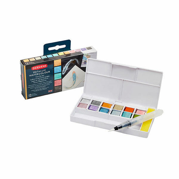 DERWENT Inktense Paint Pan Palette Metallic X CARTON of 6 2305657
