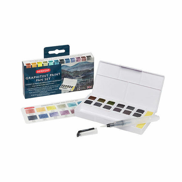 DERWENT Inktense Paint Pan Palette Graphitint X CARTON of 6 2305790