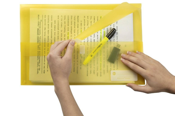 Marbig Polypick Foolscap Document Wallet Yellow X CARTON of 12 2310005