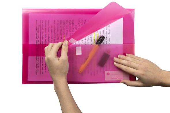 Marbig Polypick Foolscap Document Wallet Pink X CARTON of 12 2310009