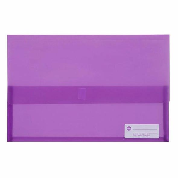 Marbig Polypick Foolscap Document Wallet Purple X CARTON of 12 2310019