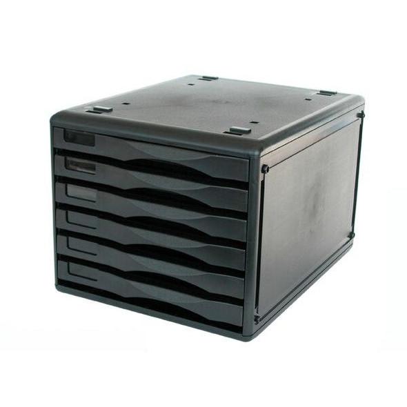 Metro 3439 Desktop Filing Drawers B4 6d Black 234396