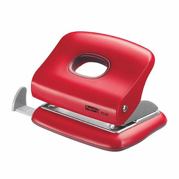 Rapid Punch 2 Hole 20 Sheet Fc20 Red Clamshell 23721802