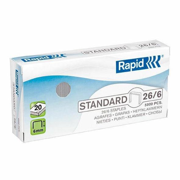 Rapid Staples 26/6mm Box5000 24861800