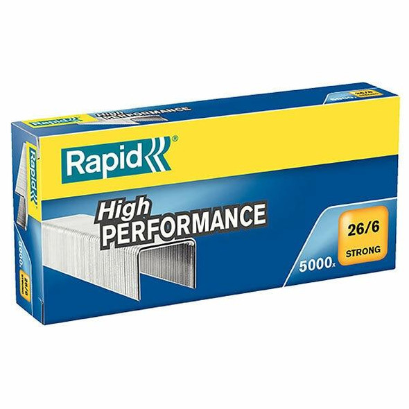Rapid Staples 26/6mm Box5000 Strong 24862000