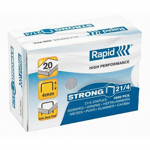 Rapid Staples 21/4mm Box5000 24867400
