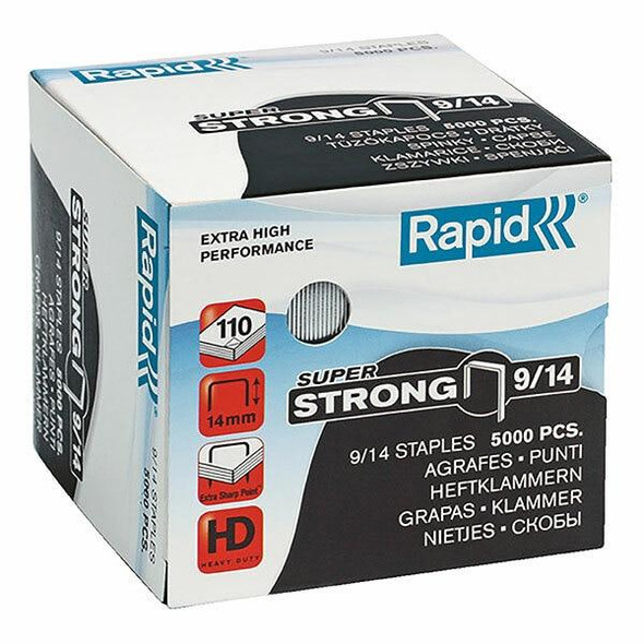 Rapid Staples 9/14mm Box5000 S/Strong 24871500