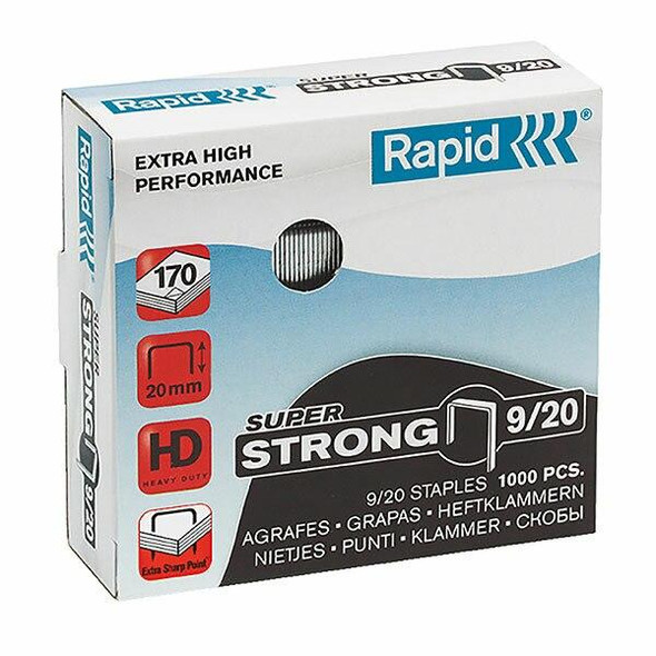 Rapid Staples 9/20mm Box1000 S/Strong 24871700