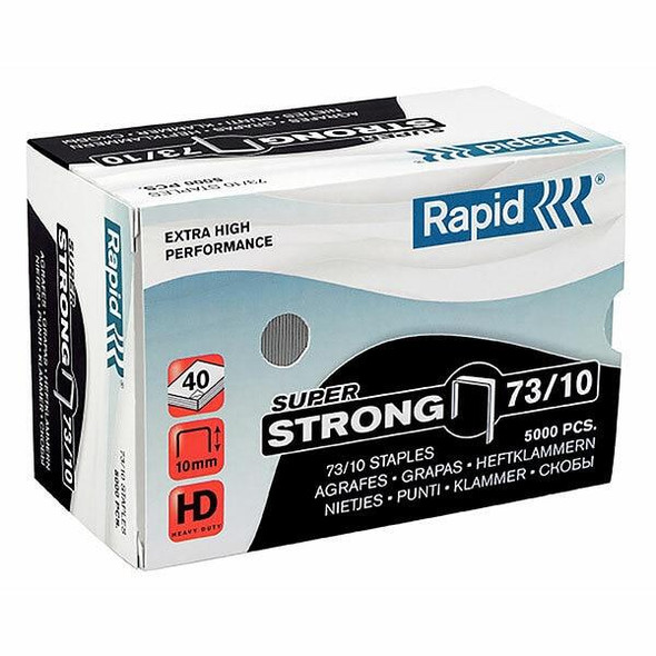 Rapid Staples 73/10mm Box5000 S/Strong 24890400