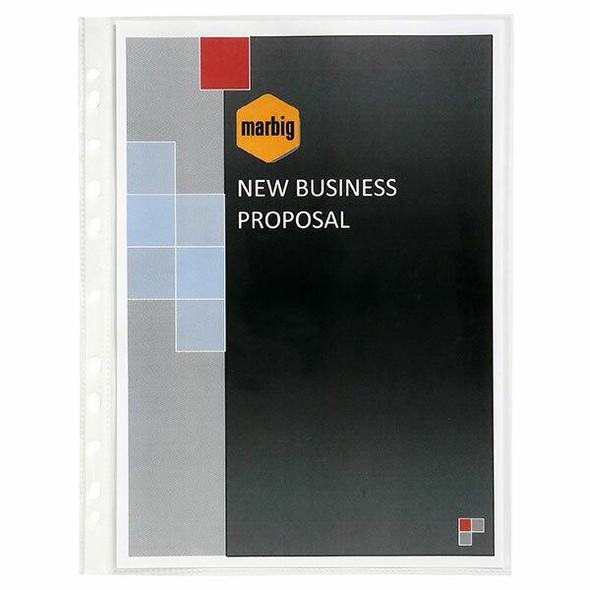 Marbig Sheet Protectors Medium Weight A4 100Pack 25109