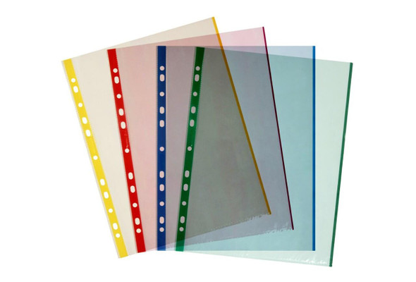 Marbig Sheet Protectors Lightweight A4 Assorted Colours Pack20 X CARTON of 10 25190