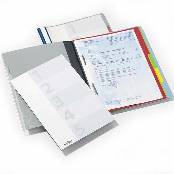 DURABLE Divisoflex Organisational Folder A4 5 Divider Blue 255706