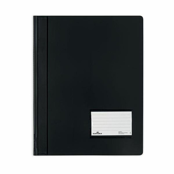 DURABLE Premium Flat File A4 Extra Wide Transluscent Black 268001