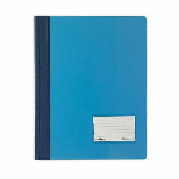 DURABLE Premium Flat File A4 Extra Wide Transluscent Blue 268006