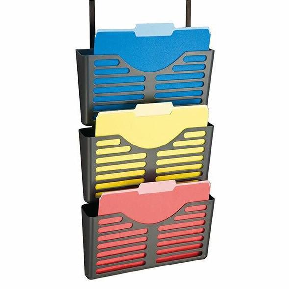 Esselte Verticalmate File Pocket X3 With Partition Hanger Charc 30026