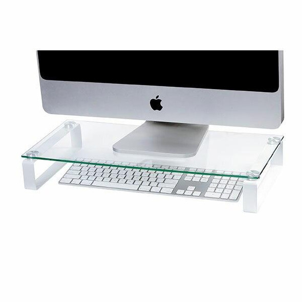 Esselte Monitor Stand Glass 60cm White Legs 30051