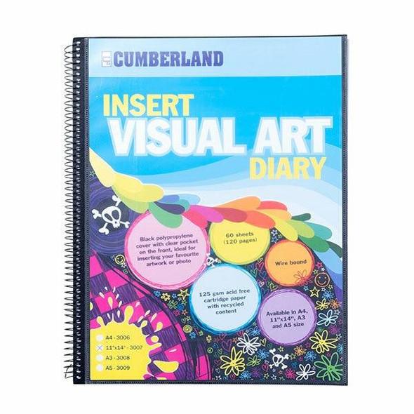 CUMBERLAND Visual Art Diary 11 X 14 Black 3007