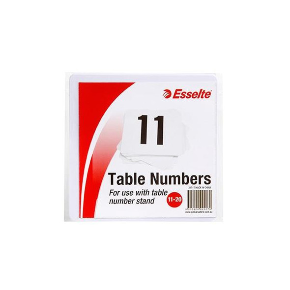 Esselte Table Numbers 11-20 White Pack10 31717